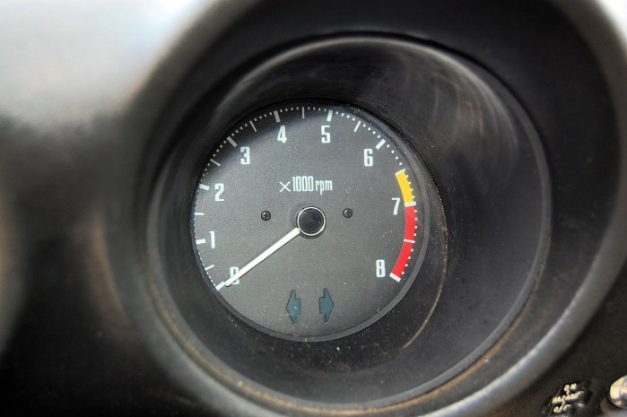 A photo of a 1972 Nissan Datsun 240Z Tachometer Gauge