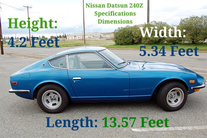 Nissan Datsun 240Z Specifications and Dimensions Photo